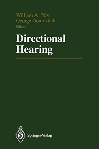 9780387964935: Directional Hearing (Proceedings in Life Sciences)