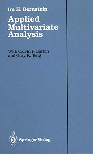 9780387965420: Applied Multivariate Analysis