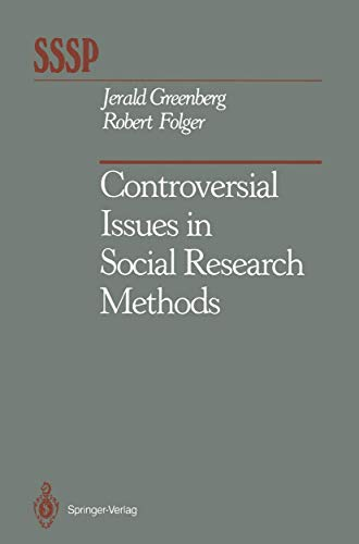 9780387965710: Controversial Issues in Social Research Methods (Springer Series in Social Psychology)