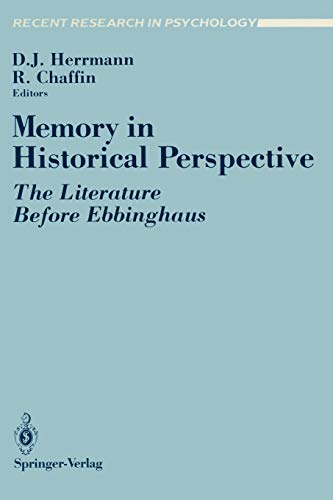 9780387967059: Memory in Historical Perspective: The Literature Before Ebbinghaus