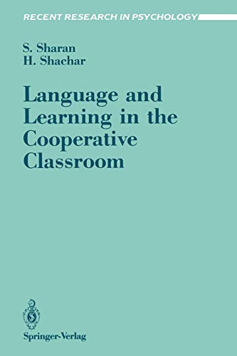 9780387967080: Language and Learning in the Cooperative Classroom (Recent Research in Psychology)
