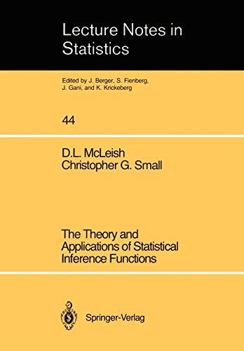 9780387967202: The Theory and Applications of Statistical Interference Functions (Lecture Notes in Statistics)