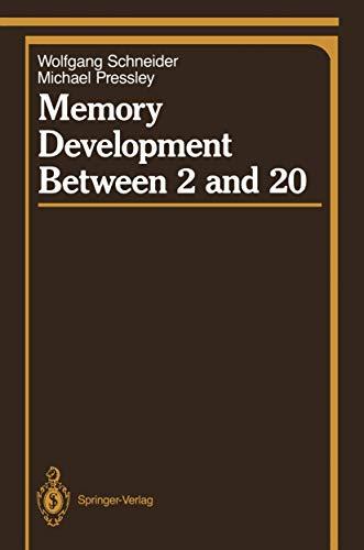 9780387967424: Memory Development Between 2 and 20