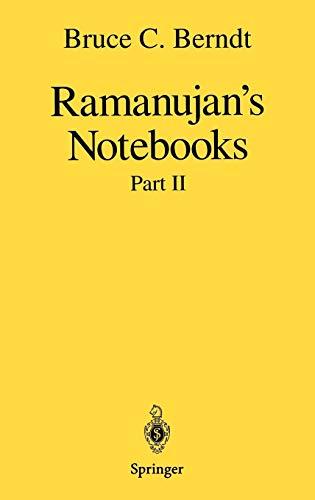 Ramanujan s Notebooks: Part II (Hardback): Bruce C. Berndt,