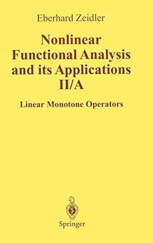 Linear monotone operators: E. Zeidler et