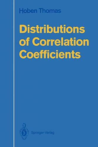 Distributions of Correlation Coefficients: Thomas, Hoben