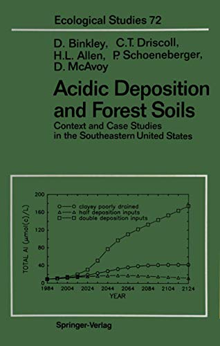 Acidic Deposition and Forest Soils: Context and: Binkley, Dan, Driscoll,