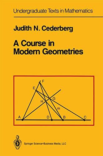 9780387969220: A Course in Modern Geometries (Undergraduate Texts in Mathematics)