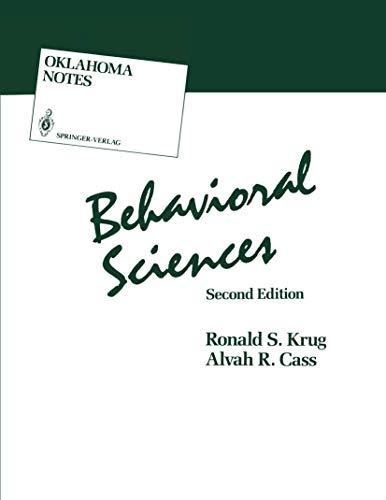9780387969671: Behavioral Sciences (Oklahoma Notes)
