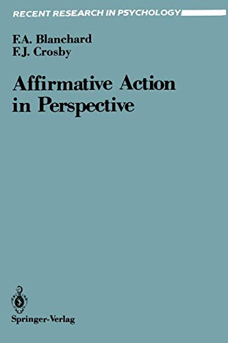 9780387969718: Affirmative Action in Perspective (Recent Research in Psychology)