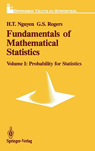 9780387970141: 001: Fundamentals of Mathematical Statistics: Probability for Statistics (Springer Texts in Statistics)
