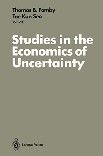 9780387970479: Studies in the Economics of Uncertainty: In Honor of Josef Hadar (Applications; 17)