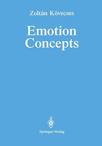 9780387971155: Emotion Concepts