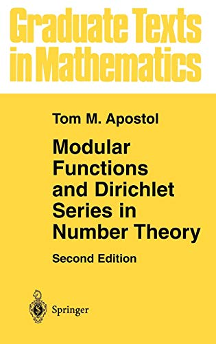 9780387971278: Modular Functions and Dirichlet Series in Number Theory (Graduate Texts in Mathematics) (v. 41)