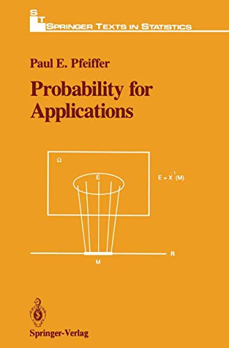 9780387971384: Probability for Applications (Springer Texts in Statistics)