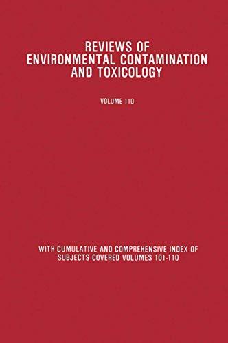9780387971582: 110: Reviews of Environmental Contamination and Toxicology: Continuation of Residue Reviews