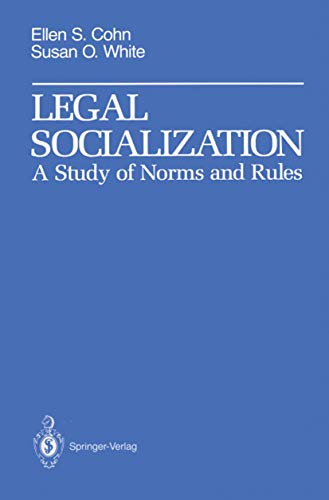 9780387972138: Legal Socialization: A Study of Norms and Rules (Springer Series in Computational)