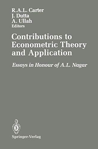 Contributions to Econometric Theory and Application: Essays: Robert A. Carter,