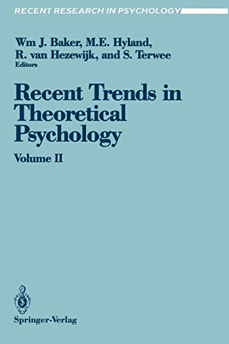 9780387973111: Recent Trends in Theoretical Psychology: Proceedings of the Third Biennial Conference of the International Society for Theoretical Psychology April 17–21, 1989 (Recent Research in Psychology)