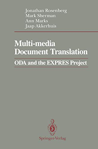 9780387973975: Multi-media Document Translation: ODA and the EXPRES Project