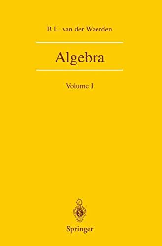 9780387974248: Algebra: Volume I: 001