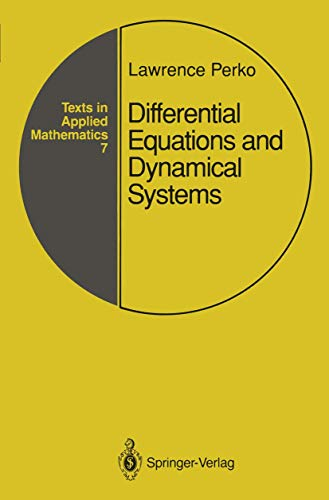 9780387974439: Differential Equations and Dynamical Systems (Texts in Applied Mathematics)