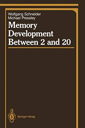 9780387974767: Memory Development Between 2 and 20