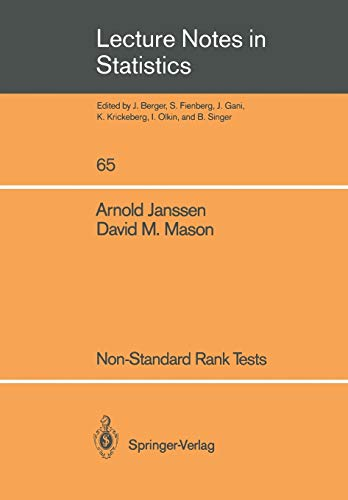 Non-Standard Rank Tests Lecture Notes in Statistics v. 65: Arnold Janssen