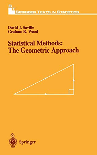 9780387975177: Statistical Methods: The Geometric Approach (Springer Texts in Statistics)