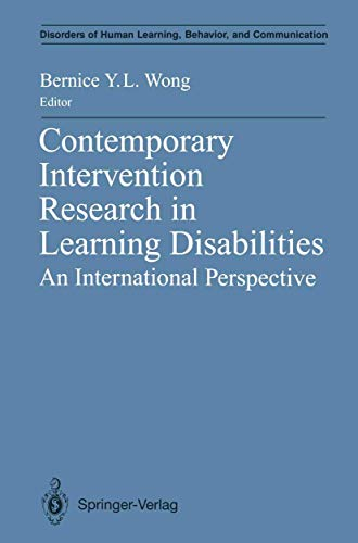 9780387976044: Contemporary Intervention Research in Learning Disabilities: An International Perspective (Disorders of Human Learning, Behavior, and Communication)