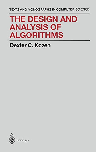 9780387976877: The Design and Analysis of Algorithms (Monographs in Computer Science)