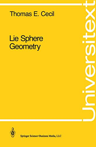 9780387977478: Lie Sphere Geometry: With Applications to Submanifolds (Universitext)