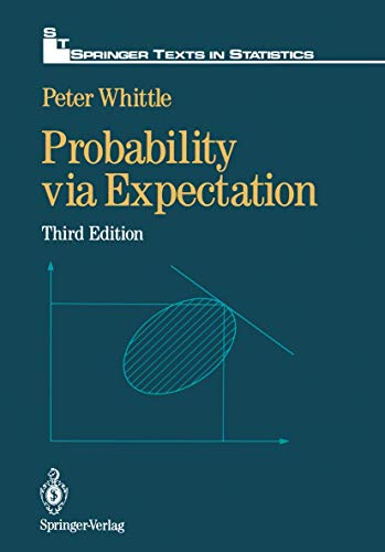 9780387977584: Probability Via Expectation (Springer Texts in Statistics)