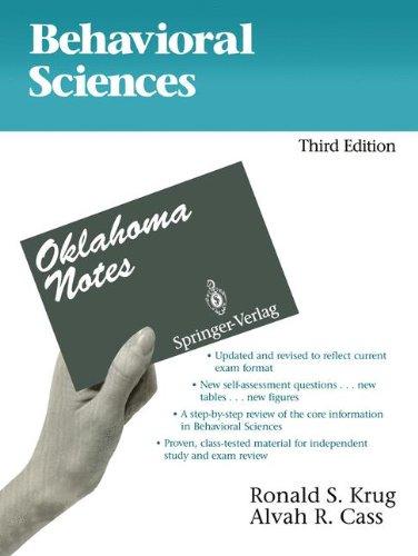 9780387977829: Behavioral Sciences (Oklahoma Notes)