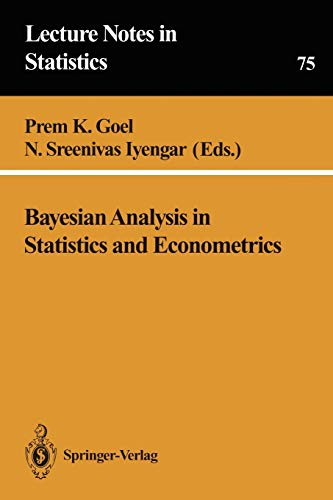 9780387978635: Bayesian Analysis in Statistics and Econometrics (Lecture Notes in Statistics)