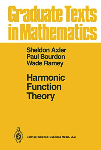 9780387978758: Harmonic Function Theory (Graduate Texts in Mathematics, Vol 137)