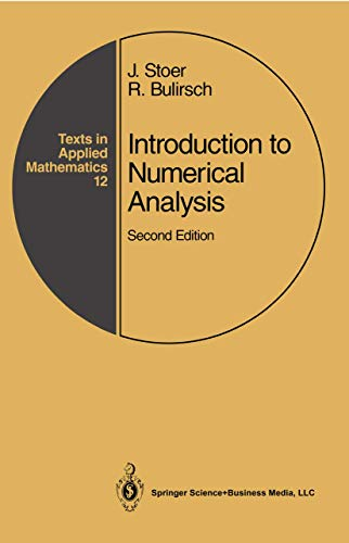 9780387978789: Introduction to Numerical Analysis (Texts in Applied Mathematics, No 12)