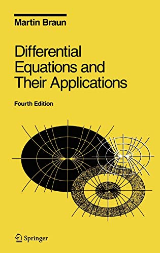 9780387978949: Differential equations and their applications: An introduction to applied mathematics