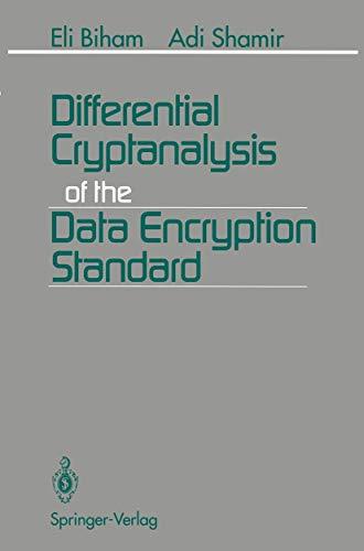 9780387979304: Differential Cryptanalysis of the Data Encryption Standard