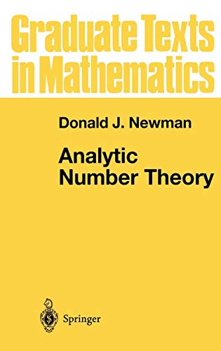 9780387983080: Analytic Number Theory (Graduate Texts in Mathematics, Vol. 177)