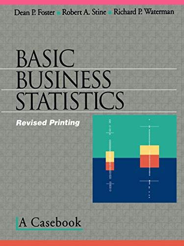 9780387983547: Basic Business Statistics: A Casebook (Textbooks in Matheamtical Sciences)