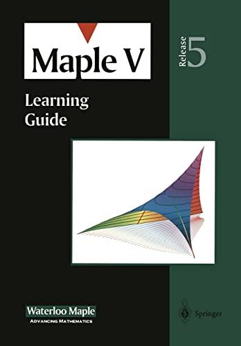 9780387983974 maple v learning guide abebooks waterloo maple rh abebooks com Maple Grove Sylvan Learning Maple Learning Center