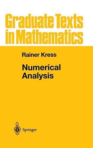 9780387984087: Numerical Analysis: v. 181 (Graduate Texts in Mathematics)