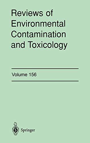9780387984834: Reviews of Environmental Contamination and Toxicology: Continuation of Residue Reviews