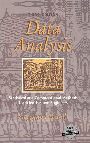 Data Analysis: Statistical and Computational Methods for: Brandt, Siegmund