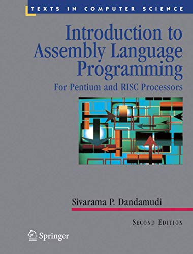 9780387985305: Introduction to Assembly Language Programming: From 8086 to Pentium Processors (Undergraduate Texts in Computer Science)