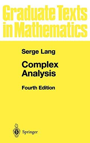 9780387985923: Complex Analysis (Graduate Texts in Mathematics)