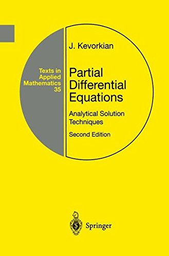 9780387986050: Partial Differential Equations: Analytical Solution Techniques