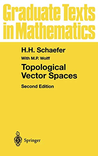 9780387987262: Topological Vector Spaces (Graduate Texts in Mathematics)