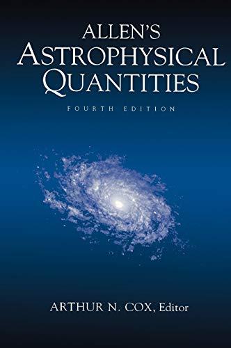 9780387987460: Allen's Astrophysical Quantities